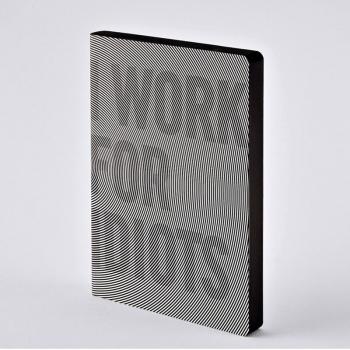 Nuuna Notizbuch GRAPHIC L I WORK FOR IDIOTS