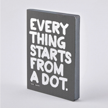 Nuuna Notizbuch GRAPHIC L Every Thing Starts from a Dot