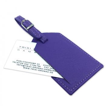 Trixi Gronau Leder Kofferanhänger CARRYS violett