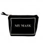Preview: Bag All, Leinentasche Druck my mask black,