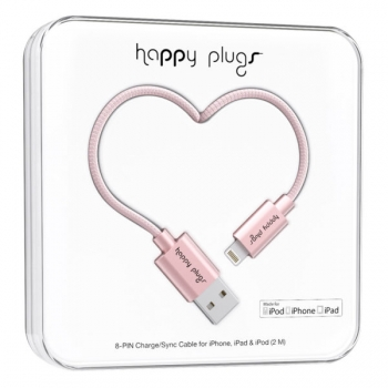 Happy Plugs LIGHTNING CHARGE/SYNC CABLE pink gold