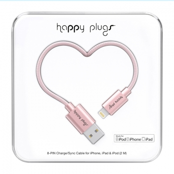 Happy Plugs Lade- und Sync-Kabel, rosegold detail
