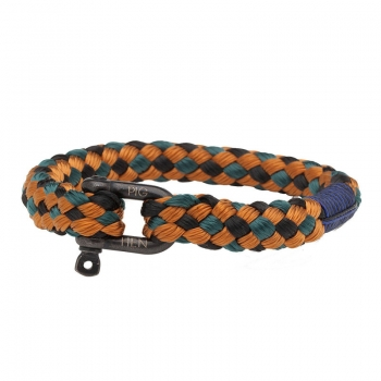 Pig & Hen Armband HAIRY HARRY black-petrol-ochre