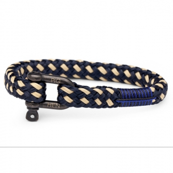 Pig & Hen Armband HAIRY HARRY navy-sand