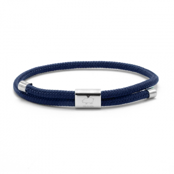 Pig & Hen Armband LITTLE LEWIS navy | silver