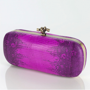 VALERIE Box Clutch Watersnake pink