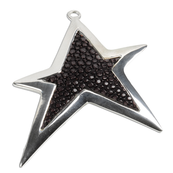 Pendant stingray star a cuckoo moment trixi gronau concept store a cuckoo moment pendants star sterling silver black stingray mozeypictures Images