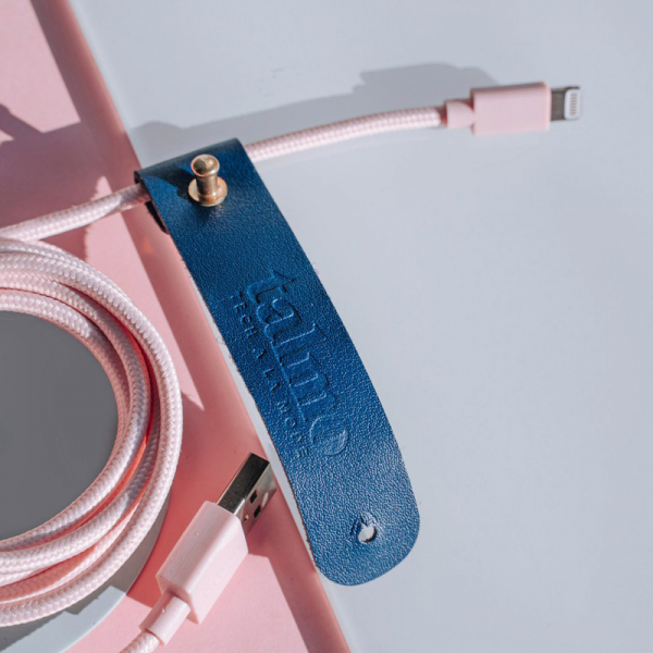 Talmo iphone lightning cable  bubblegum pink 2 meter, detail