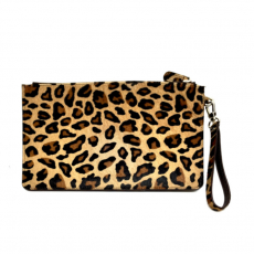 Nurage Leder Clutch Pony LEOPARD