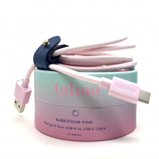 Talmo Lightning cable BUBBLEGUM pink 2m