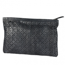NMBR Nine Soft Clutch Python blau
